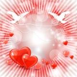 Schöner Valentinsgrußtageshintergrund lizenzfreie abbildung