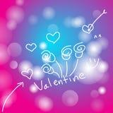 Schöner Valentinstag des Zusammenfassungshintergrundes, Vektorillustrationen stock abbildung