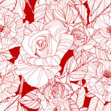 Schöner vektornahtloses Muster mit Rosen Lizenzfreies Stockbild