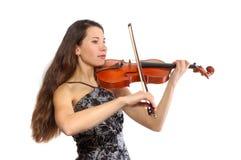 Schöner Violinist lizenzfreies stockfoto