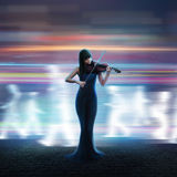 Schöner Violinist Lizenzfreie Stockbilder