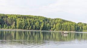 Schöner Vlasina See Serbien im Sommer lizenzfreies stockfoto