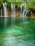 Schöner Waldwasserfall Stockbild