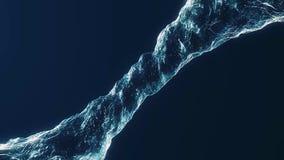 Schöner Wasser-Rausch-blaue Farbe im Rohr auf weißem Hintergrund Lokalisiertes transparentes swirlanimation mit Alphalech fluß lizenzfreie abbildung