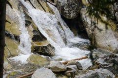 Schöner Wasserfall in den Bergen - Europa, hohes Tatras lizenzfreies stockbild