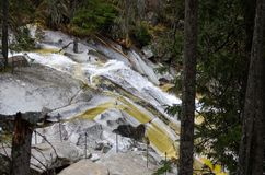 Schöner Wasserfall in den Bergen - Europa, hohes Tatras lizenzfreie stockfotografie