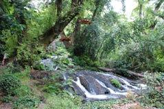 Schöner Wasserfall im Wald, die Türkei, Kemer lizenzfreies stockbild