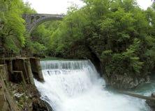 Schöner Wasserfall in Slowenien Stockfoto