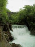 Schöner Wasserfall in Slowenien Lizenzfreie Stockfotografie