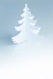 Schöner weißer handgemachter Weihnachtsbaum - Vertikale Lizenzfreie Stockbilder