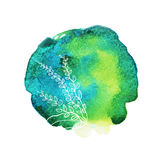 Schöner weicher Aquarellhintergrund mit Blumenverzierung Elegante vektorabbildung Stockfotos