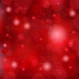 Schöner weicher roter Schneeflockehintergrund Stockbild