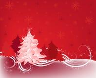 Schöner Weihnachtsbaum stock abbildung