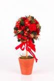 Schöner Weihnachtsbaum auf weißem Hintergrund Lizenzfreie Stockfotos