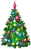 Schöner Weihnachtsbaum des abgehobenen Betrages auf Weißrückseite lizenzfreie abbildung