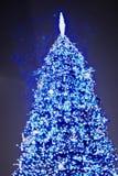Schöner Weihnachtsbaum nachts 2011 Stockfotografie