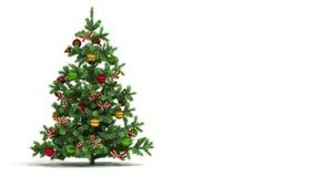 Schöner Weihnachtsbaum schlang sich lokalisiert auf weißem Hintergrund Neues Jahr-Darstellungs-Konzept Erste 250 Rahmen sind Schl lizenzfreie abbildung