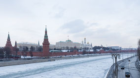 Schöner Winter in Moskau, Russland Lizenzfreie Stockfotos