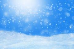 Schöner Winterhintergrund Landschaft mit bokeh Lizenzfreies Stockbild