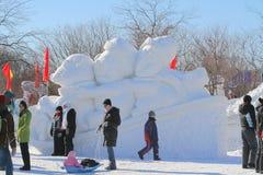 Schöner Wintertag während des Feiertags. Lizenzfreies Stockfoto