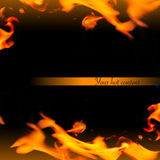 Schönes abstraktes Feld mit Flamme Stockfotografie