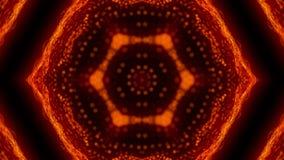 Schönes abstraktes Kaleidoskop - Fractalblume, 3d übertragen Hintergrund, den Computer, der Hintergrund erzeugt Stockfotografie