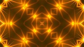 Schönes abstraktes Kaleidoskop - goldenes Licht des Fractal, 3d übertragen Hintergrund, den Computer, der Hintergrund erzeugt Lizenzfreie Stockfotos