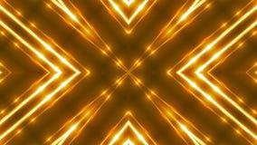 Schönes abstraktes Kaleidoskop - goldenes Licht des Fractal, 3d übertragen Hintergrund, den Computer, der Hintergrund erzeugt Stockbilder
