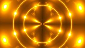 Schönes abstraktes Kaleidoskop - goldenes Licht des Fractal, 3d übertragen Hintergrund, den Computer, der Hintergrund erzeugt Lizenzfreie Stockfotografie