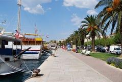Schönes adriatisches Meer in Kroatien Stockfotos