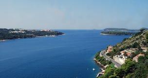 Schönes adriatisches Meer Süd-Dalmatien Kroatien Lizenzfreie Stockfotos