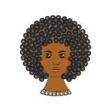 Schönes afrikanisches Frauenportrait Stilisiertes Haar Stockbild