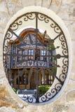 Schönes altes bulgarisches Haus, Architekturdetail lizenzfreies stockfoto