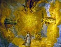 Schönes altes orthodoxes Fresko Stockfoto