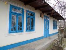 Schönes altes rumänisches traditionelles Haus Stockbild