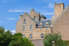 Schönes altes schottisches Landhaus Stockbilder