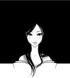 Schönes Anime-Mädchen Stockfotos