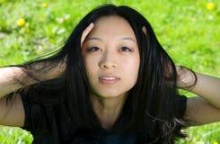 Schönes asiatisches Mädchen Lizenzfreie Stockfotos