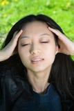 Schönes asiatisches Mädchen Stockbild