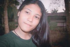 Schönes asiatisches Mädchen-Jugendporträt YoungThailand Lizenzfreies Stockbild