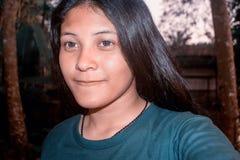 Schönes asiatisches Mädchen-Jugendporträt YoungThailand Lizenzfreie Stockfotos