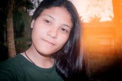 Schönes asiatisches Mädchen-Jugendporträt YoungThailand Lizenzfreies Stockfoto