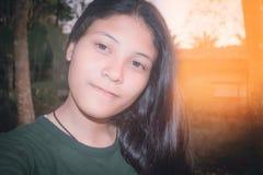 Schönes asiatisches Mädchen-Jugendporträt YoungThailand Lizenzfreie Stockfotografie