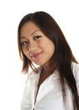 Schönes asiatisches Mädchenlächeln Lizenzfreie Stockfotos
