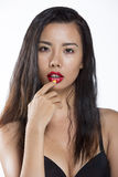 Schönes asiatisches Mädchenportrait lizenzfreies stockbild