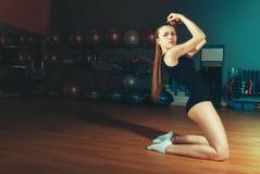 Schönes athletisches Mädchen Stockbilder
