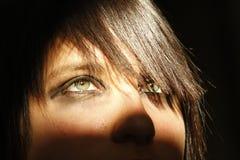 Schönes Augenschauen nach vorn Lizenzfreies Stockfoto