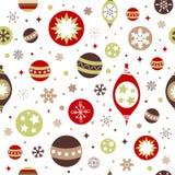 Schönes Auslegung Weihnachtsnahtloses Muster Lizenzfreie Stockfotografie
