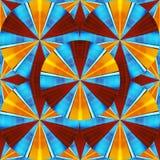 Schönes Aussehen wie ein Kaleidoskop der Farbe und der Sterne Stockfoto