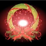 Schönes Band mit Weihnachtshintergrund und Grußkartenvektor stock abbildung